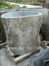 100%natural stone tubs,55''H can cut for you natural outside, it is idea way to give your bathroom a look. unique handmake craft(China (Mainland))