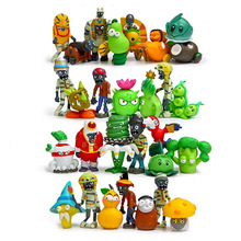 30pcs/lot Plants vs Zombies Series Game PVC Action Figure Model Toys 4-7CM Plants Vs Zombies Toys