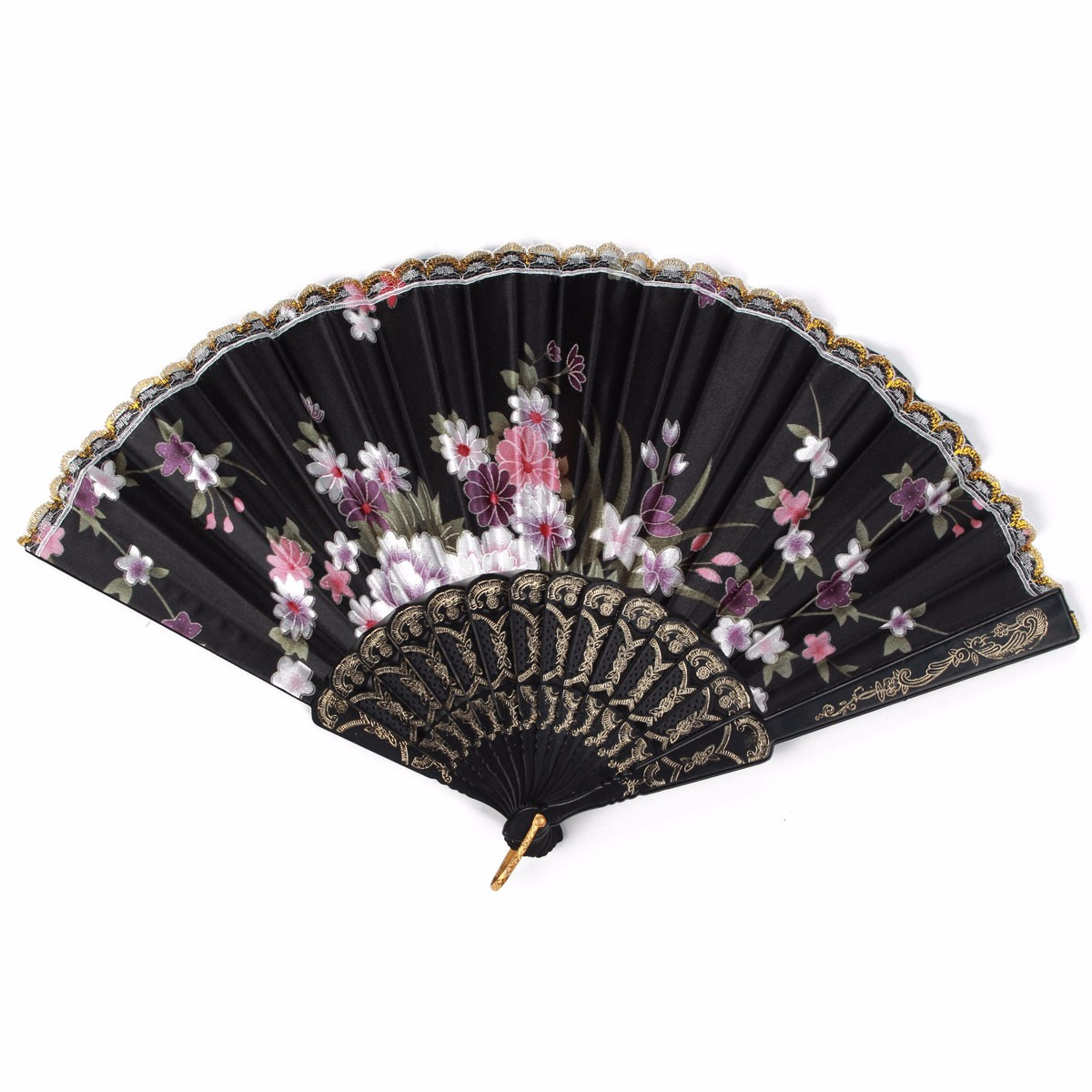 Wedding Hand Fan Bridal Party Damask Silk Plastic Vintage Folding Chinese Traditional Style Outdoor Dancing Fan(China (Mainland))