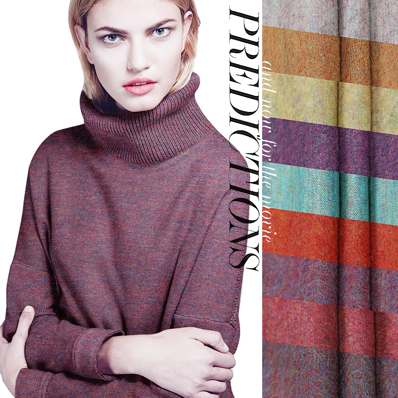 Limited Hot sale export Italy high quality fine wool knitting fabric lavender elastic soft jersey knit online store bright cloth(China (Mainland))