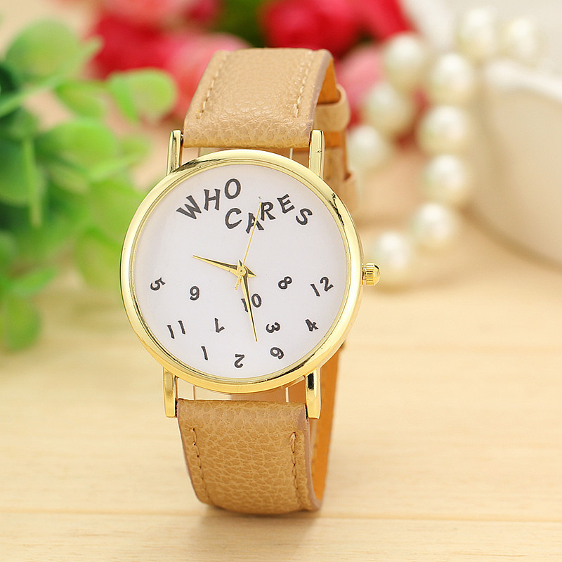 3 Colors Fashion cares watch Leather Strap Quartz Watch Women Dress Watches relogio feminino AW-SB-1319 - Aiwise Store store