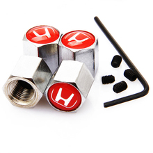 New Brand Car-covers Theftproof Stainless Steel 4PCS Car Wheel Tire Valves Tyre Stem Air Valve Caps case for Honda Accessories(China (Mainland))
