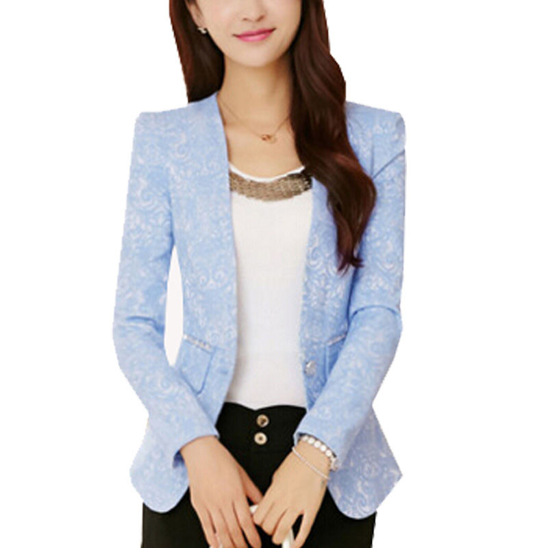 Women's 2016 Sprng small suit jacket female Korean Slim temperament small Blazers S M L XL XXL ZY372(China (Mainland))