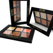 IMAGIC Professional Concealer Palette Contouring Makeup Cosmetic Facial Care Cream Palette 6 Colors Cream Contour Palette