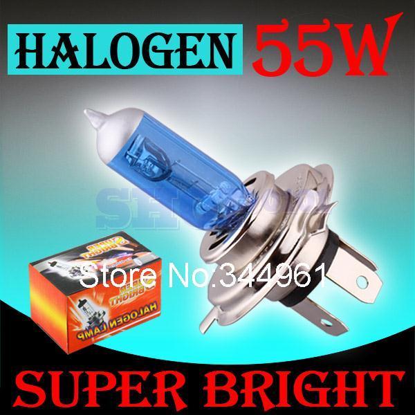 H4 55W 12V Super White Fog Lights Halogen Bulb High Power Car Headlight Lamp Car Light Source parking Head auto 6000K(China (Mainland))