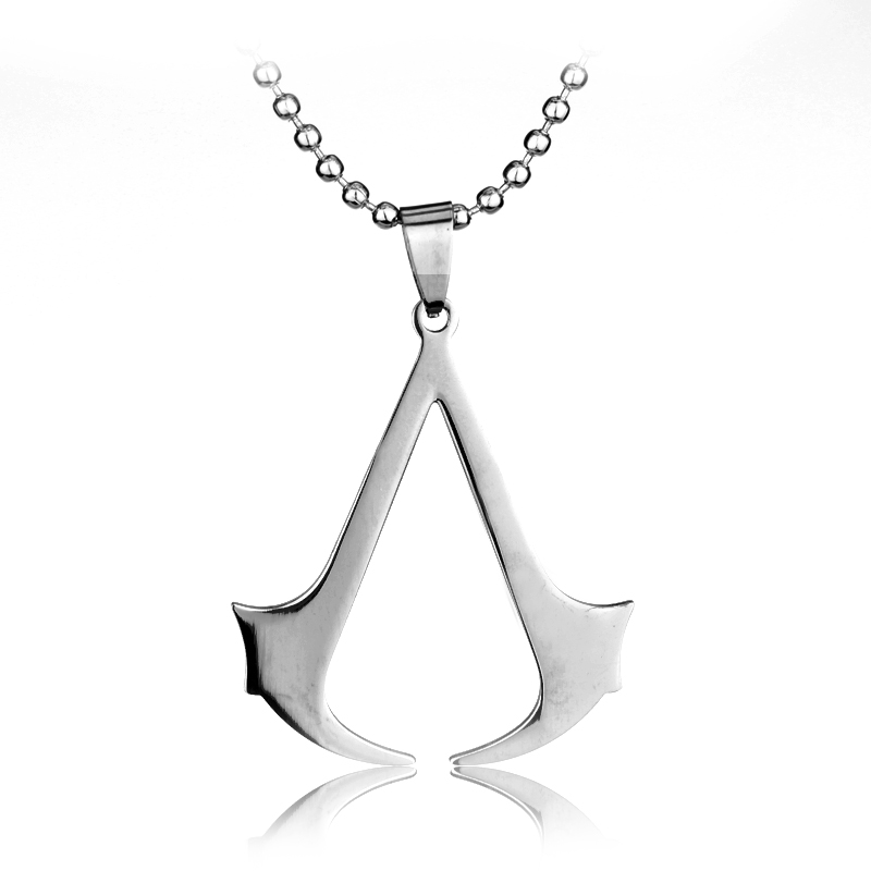 Fashion Assassins Creed Stainless Steel Necklace Pendant Men Women Jewelry