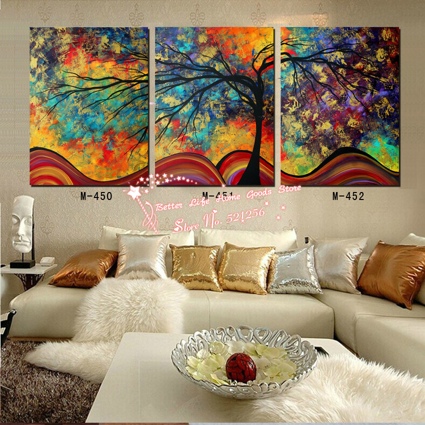 Modern wall art home decoration printed oil painting for Art painting for home decoration