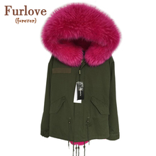 2016 New Women Winter Army Green Jacket Coats Thick Parkas Plus Size Real Raccoon Fur Collar Hooded Outwear 5 Day Delivery time(China (Mainland))