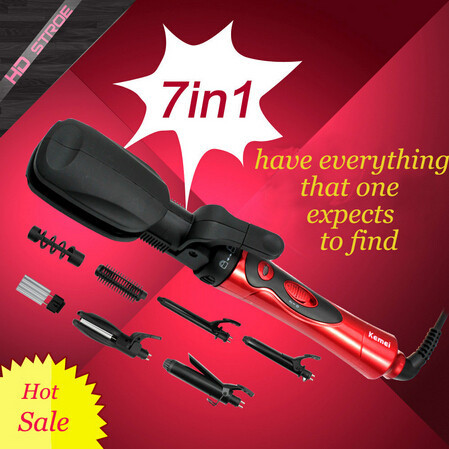Free shipping 7 in 1 ionic straightening Irons & hair curling iron  hair straightener flat iron roller pranchas de cabelo