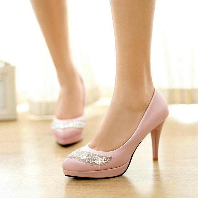 hot sale freeshipping large size34-43  Fashion Sexy High Heel Shoes Brand Design Platform Women sexy Party Shoes Wedding Pumps<br><br>Aliexpress