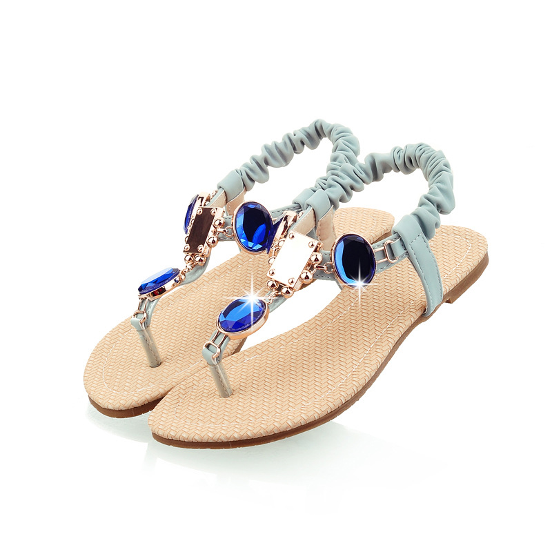 2016 New Summer Sweet Lady Famous Fashion Sapphire Flat Thong Sandals Women's Brand Flip-flops Slippers Free Shipping