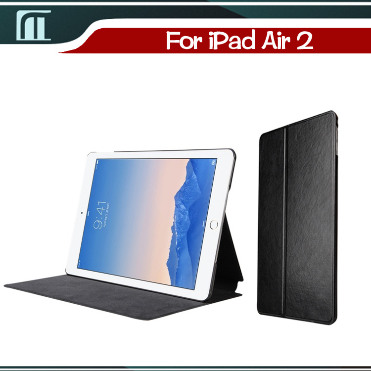 Ultra thin Stand Flip Cover Auto Sleep Wake Dormancy Cover for apple ipad air 2 i pad case for ipad air2 cover for ipad 6 ipad6(China (Mainland))