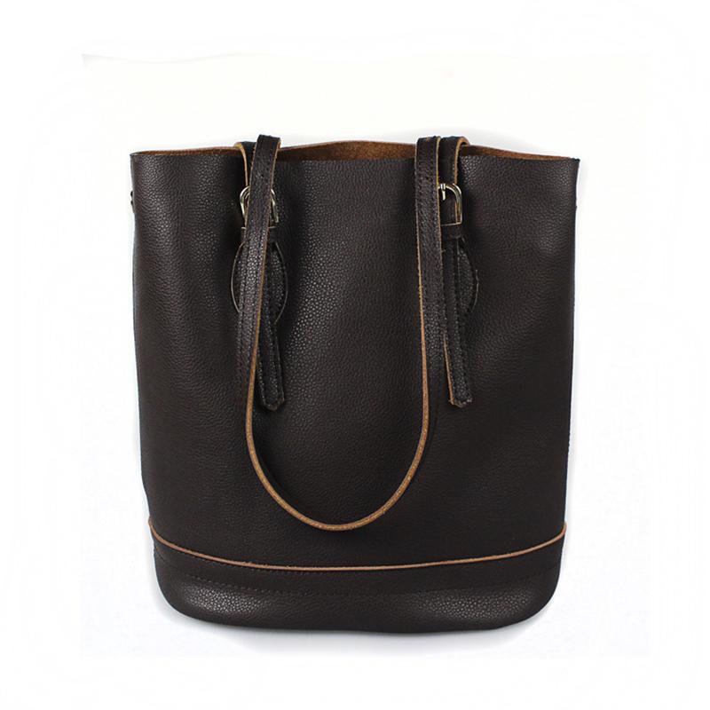 2016 New Fashion Bucket for Lady High Quality Genuine Cowhide Leather Zipper Bags Womens Shoulder Tote Bag Bolsa Feminina SMB314<br><br>Aliexpress