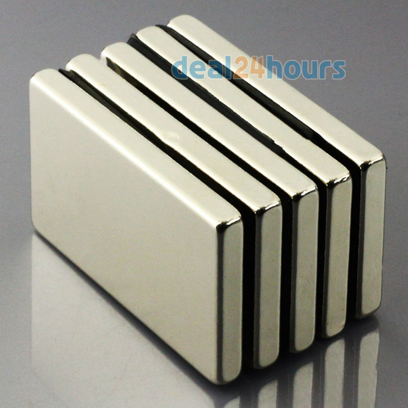 Гаджет  5pcs N50 Super Strong Block Cuboid Neodymium Magnets 50 x 30 x5mm Rare Earth Free Shipping! None Строительство и Недвижимость