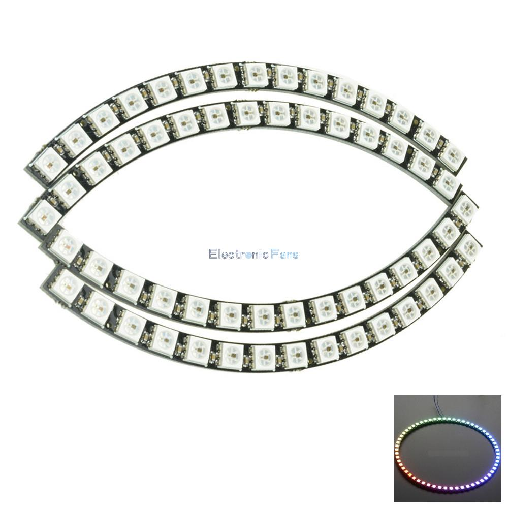 60 Bits Digital WS2812 RGB LED Ring Full Color Highlighting WS2812 5050 SMD Leds Strip Module Microcontroller DC 5V for Arduino(China (Mainland))