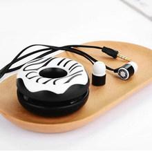น่ารักโดนัทใหม่ Macarons หูฟัง 3.5 มิลลิเมตรหูฟังสเตอริโอหูฟังพร้อมไมโครโฟนหูฟังสำหรับ iPhone เด็กสำห...(China)