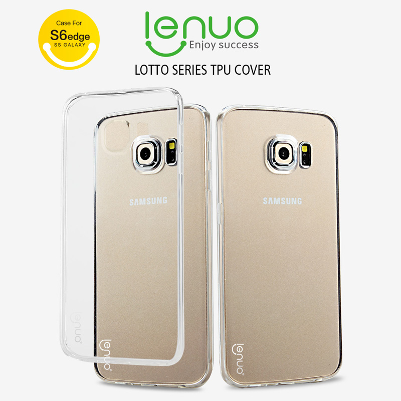 Original Lenuo Lotto Series TPU case for Samsung Galaxy S6 edge soft case with retail package freeshipping(China (Mainland))