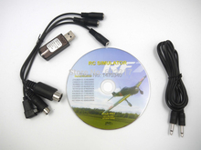 2015 hot selling FMS 22 in 1 RC USB Flight Simulator Cable for G7/ G6 G5.5 G5 5.0 free shipping(China (Mainland))