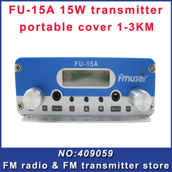 Free shipping  CZH-15A  15W FM stereo PLL broadcast transmitter FM exciter 88Mhz - 108Mhz