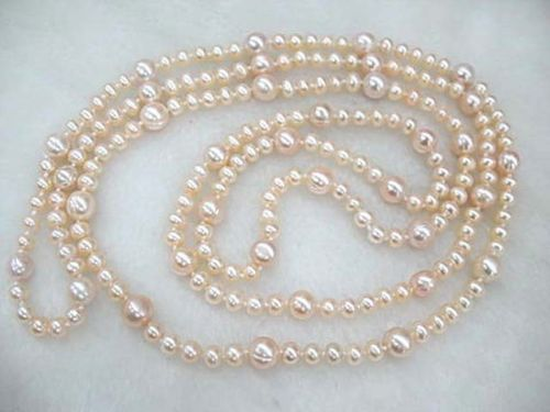 huij 001579 pink freshwater pearl baroque beads 60 loop necklace<br><br>Aliexpress