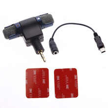 ST-189 Professional 3.5mm Stereo Microphone Mic Adapter For GOPRO HERO 3 3+ 4 Cameras