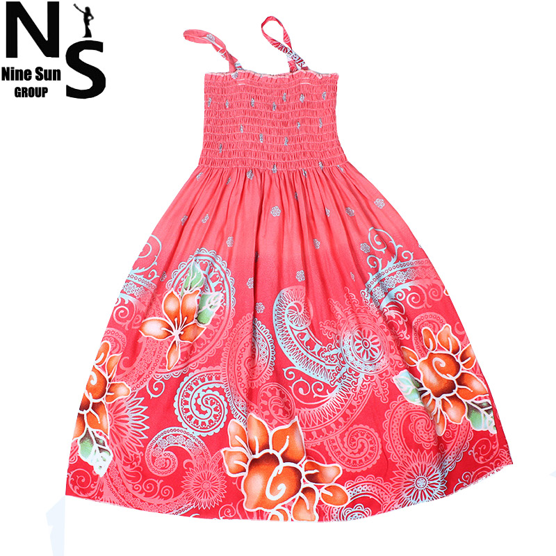 TOP NS Girls Dresses Summer 2016 Bohemian Flower Girl Dress Rainbow Girl Beaches Summer Dress Baby Girl Dress 4 8 9 10 Years(China (Mainland))