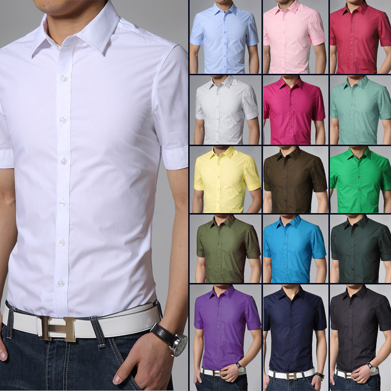 Fitted short sleeve dress shirts for men is shirt for Dress shirt vs casual shirt