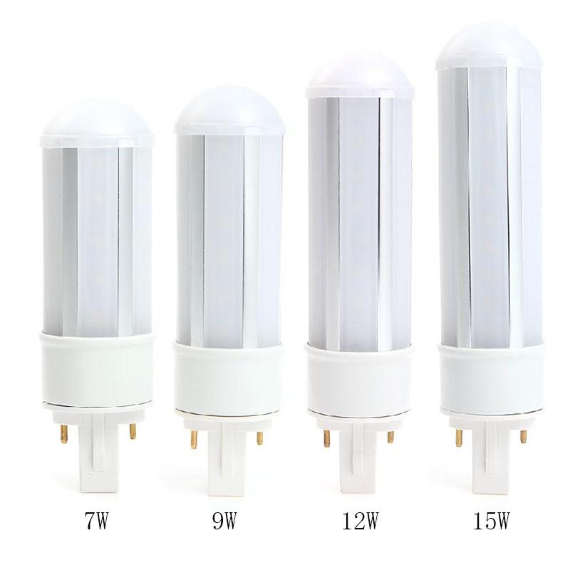 CROLED 7W/9W/12W/15W G24 LED Bulb White/Warm White Horizontal Plug Lamp Lights AC100-240V 360 Degree(China (Mainland))