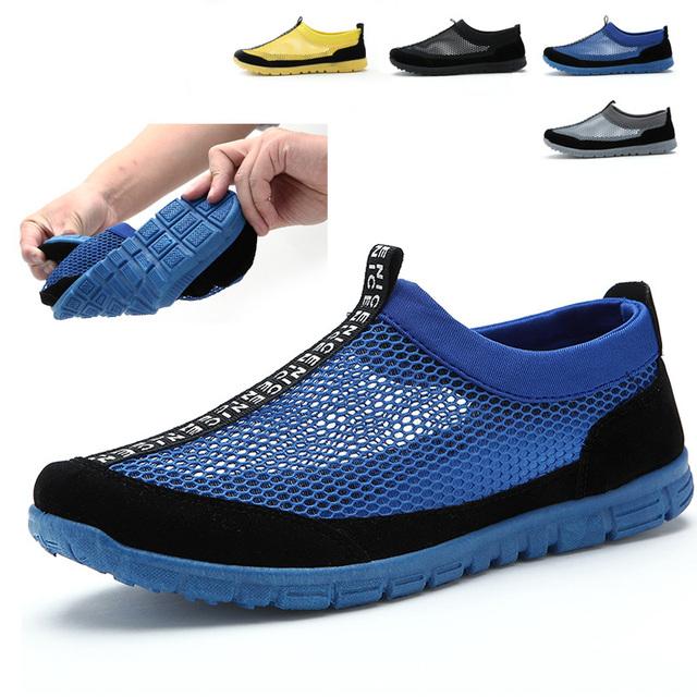 2015 новый летний чистая ленивых мужская обувь тканая сетка дышащей обуви бесплатная ...