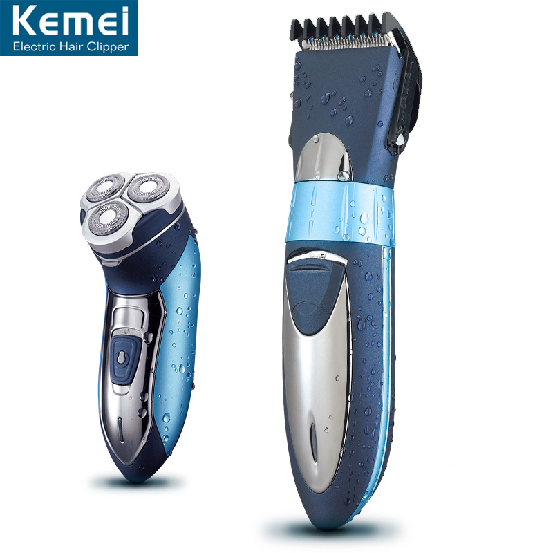 Kemei 7392 Combination packages Electric Hair Trimmers Hair Clipper Shavers Rechargeable built-in Charging battery Razors(China (Mainland))