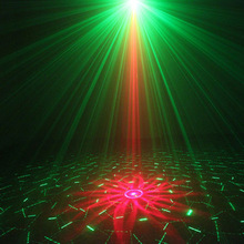 Buy Professional Remote Aurora LED Laser Stage Light Projector R&G Blue Party DJ Disco Club Xmas --M25 for $57.57 in AliExpress store