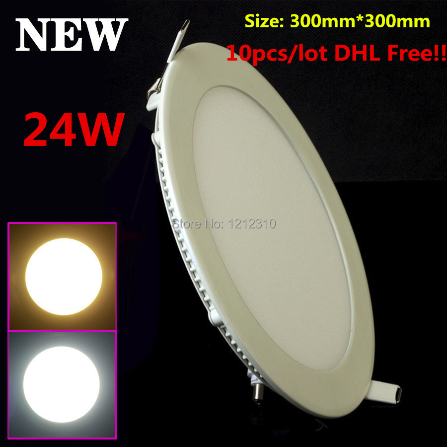 Ultra-thin design 24W 300mm * 300mm LED downlight Round LED panel / pannel light bulb for bedroom luminaire DHL free shipping<br><br>Aliexpress