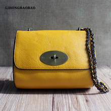 New Arrival Ladies Shoudler Bags Women Genuine Leather Messenger Bags with Chain Candy Color Evening Party Bag Crossbody Bag