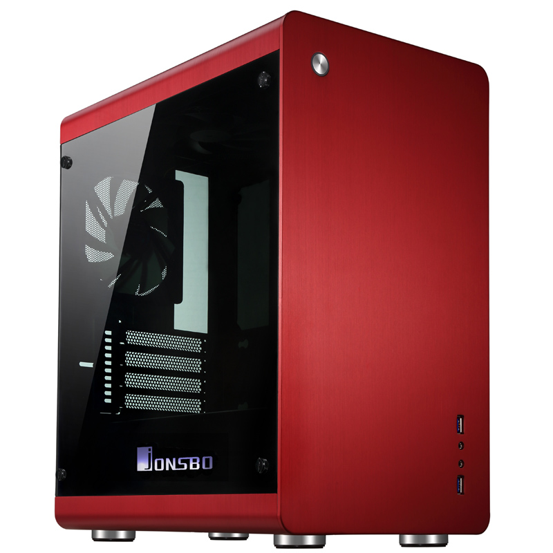 Jonsbo RM3, HTPC ITX Mini case of the computer all aluminum, 3.5'' HDD, USB3.0, Tempered glass side panels, Others C2 V4(China (Mainland))