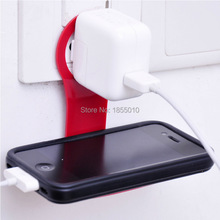 Free Shipping Foldable Charge Charging Wall Holder Shelf Stand Cradle For Mobile Cell Phone MP3