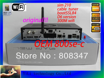 2013  OEM DVB 800se wifi  cable tuner 800se-c  with sim 210 support 300M wifi   free shipping800se-c