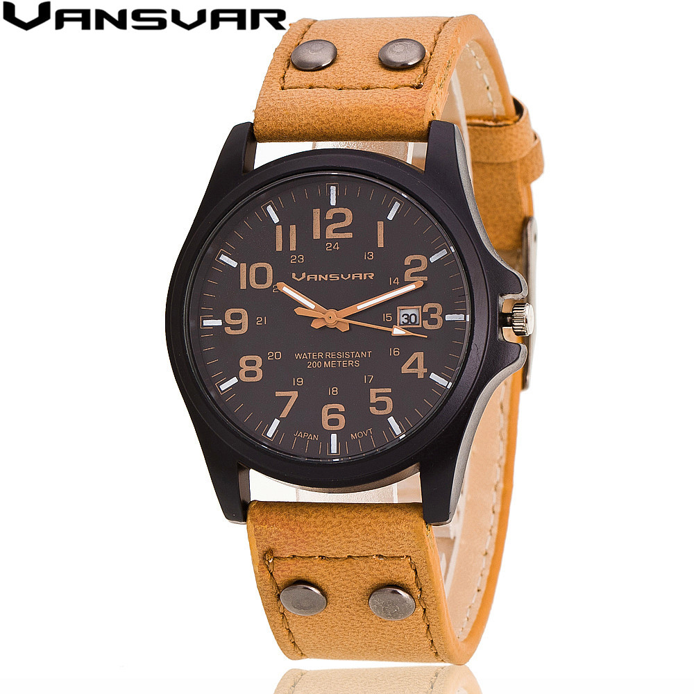 vansvar 2016 new fashion wrist watches casual leather