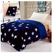 blue coral fleece pillow thin quilts and cushion double use is cool spring and autumn was air conditioning wool blanket(China (Mainland))
