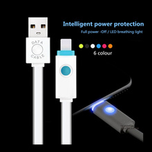 2.1A 1M Speed USB Data Sync Charge Cable For iPhone5 5S 6 Plus 6S iPad Air Charging Smart coloful Noodle Jelly Line Transmit Hot(China (Mainland))