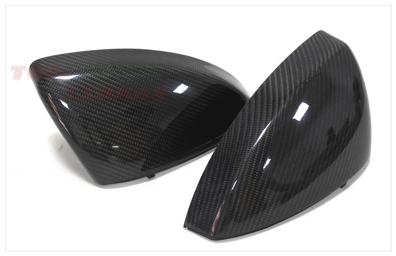 1:1 Replacement for Audi R8 2015 2016 Carbon Fiber Mirror Cover Rear View Without Lane Assit