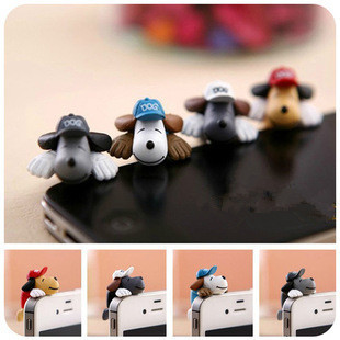 Papa Dog baseball cap dust plug headphones History anger than dog stuffed sandwich phone accessories decorations(China (Mainland))