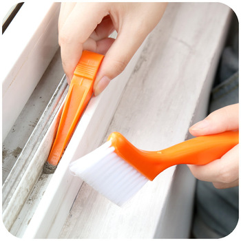 New 2-in-1 multipurpose window groove cleaning brush keyboard nook and cranny dust small shovel / window track cleaning brushes