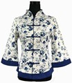 Spring Summer Chinese Tradition Cotton Linen Blouse Top Traditional Women s Shirt Flower Size S M