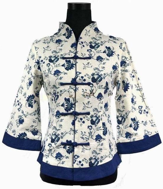 Spring Summer Модный Chinese tradition Linen Женщины's Верх Jacket Размер S ...