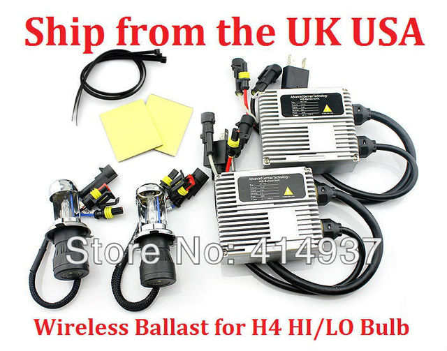 Xenon Hid Kit 12V 35W Wireless 798 Ballast for H4 Hi/Low Bulb  Hid Kits Color temperature 8000K Ship from the UK USA Very Fast!
