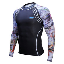 Buy Mens Compression Shirts Bodybuilding Skin Tight Long Sleeves Jerseys Clothings MMA Crossfit Exercise Workout Fitness Sportswear for $8.12 in AliExpress store