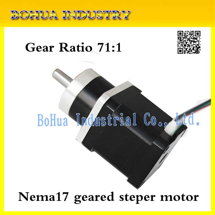 Шаговый двигатель BOHUA 71:1 Nema 17 1.68a stepper 3d 17HS geared stepper motor skil 6565 ld