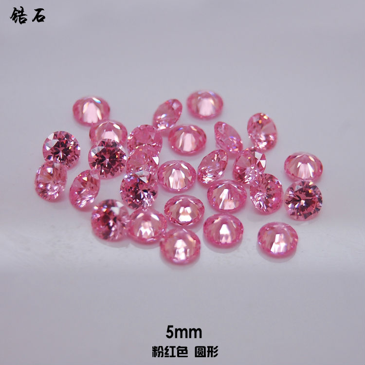 13 100pcs/lot 5 mm round pink glow of zircon 3D Nail Art Laptop Case Cover Jewelry Cellphone Decoration(China (Mainland))