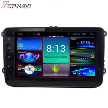 """Top 8"""" Quad Core Android 4.4 Car Stereo For VW Universal With GPS Map Radio Audio 16GB Flash Mirror Link Free Shipping"""
