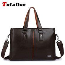 TuLaDuo Brand Bag Men Messenger Bags Business Men PU Leather Laptop Tote Bags Man Crossbody Bag Leather Briefcases Dollar Price(China (Mainland))